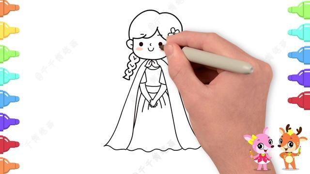 卡通人物简笔画妈妈
