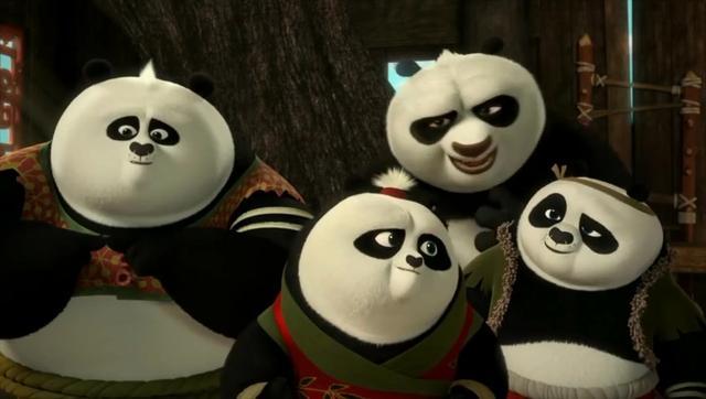 功夫熊猫:阿波的两个爸爸,一见面都争吵,真是欢喜冤家!