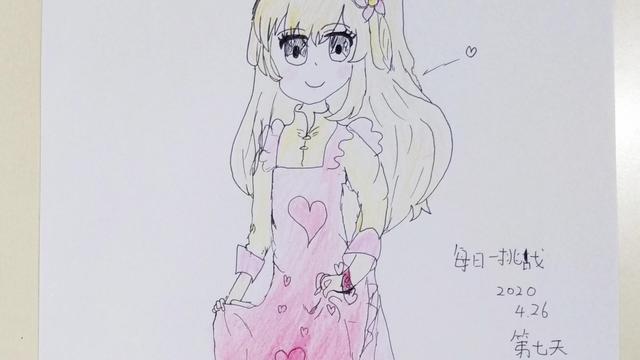 10岁简单卡通美少女画