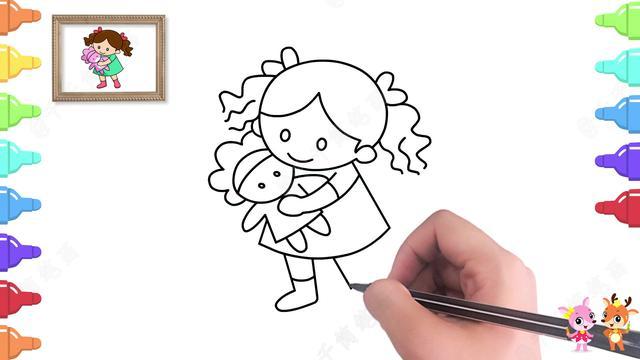简笔画彩色可爱卡通