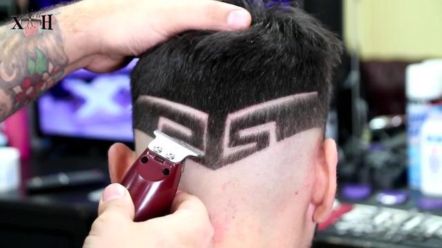 男士发型雕刻图案