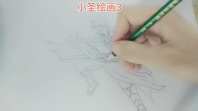 《小圣绘画3》画王者荣耀的李白
