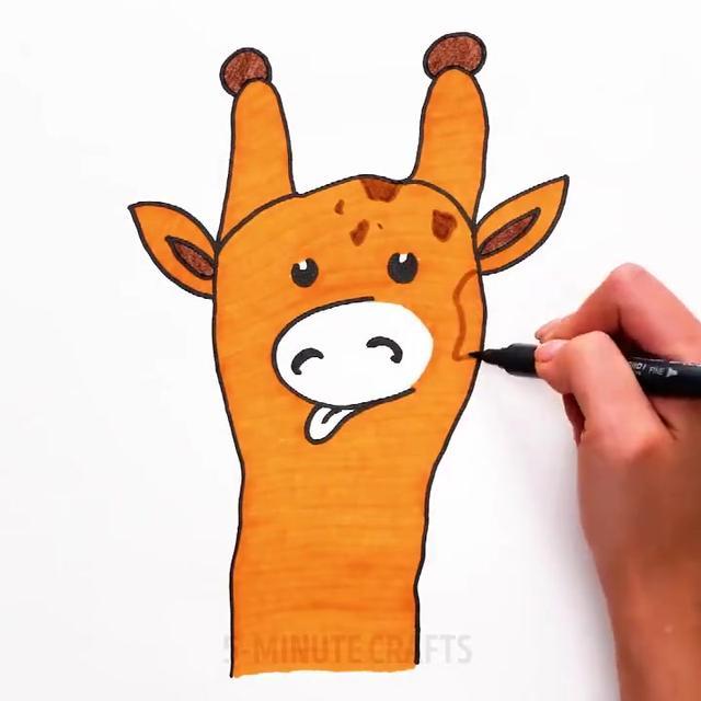画一双手,一棵小树丨幼儿早教简笔画、陪孩子一起画的画,秒收藏