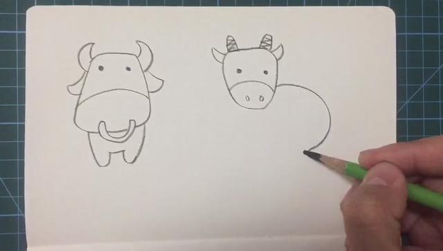牛简笔画图片大全可爱