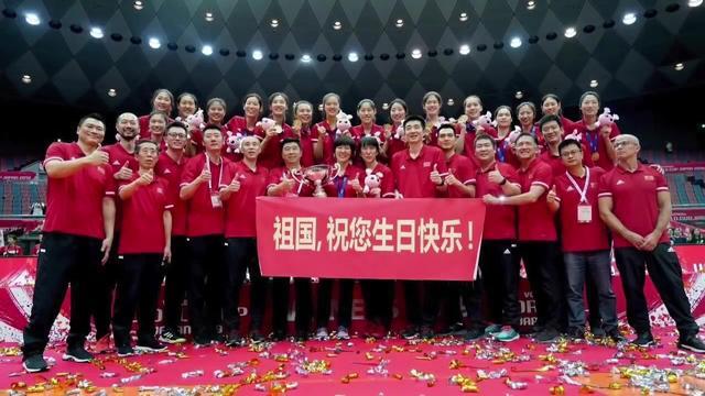 中国女排夺冠图片