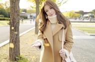 温度风度并存要这样穿衣!韩国女生大衣穿搭图片气质爆棚
