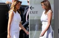 第一夫人梅拉尼娅穿白裙剪彩,尽显超凡气质,绽放笑容亲和力足