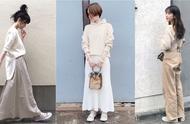 春夏换上重乳奶茶色系 搭配杏色帆布鞋穿出温柔姐姐感