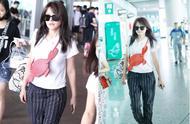 """热依扎""""新恋情""""风波后现身机场,身材已成幸福肥,衣服看着都紧"""