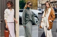 大毛衣+半裙,才是秋冬最时髦的打开方式!