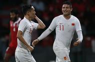 世预赛亚洲区40强赛国足客场5:0马尔代夫,艾克森一人独中两元