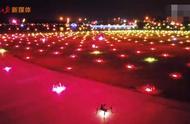 把对岸照亮!深圳600架无人机对香港喊话:我爱你中国