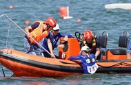 山西二青会花絮!皮划艇决赛遭遇大风,多队发生翻船事故