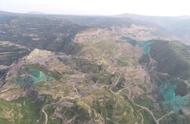 河南三门峡矿企将裸露山体喷绿,相关公司称颜料为固沙剂
