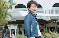 海清新造型太时髦,回形针耳环配同款彩色发箍,俏皮可爱不像42岁