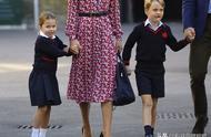 夏洛特公主开学第一天,校服造型曝光,初到学校有点羞涩