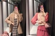 Zara tries the garment, Qiu Shangxin season grabs money first, sweater wears an advanced feeling