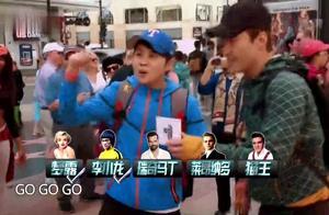 天王黎明偶像包袱太重,无法放开在街头做表演,王濛一脸无奈。