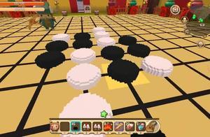 迷你世界:五子棋,第一局下来空白以为不会再赢,没想到咸鱼翻身
