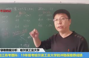 2019年黑龙江高考,理科考生报考哈尔滨工业大学,冲稳保推荐成绩