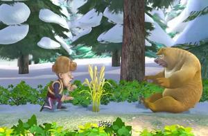 熊出没:熊二真是馋啊,问道烤鱼味道,整个人都飘起来了