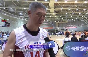 泉城杯球场上惊现一支明星队伍,徐济成、张斌和大纪联手回归赛场