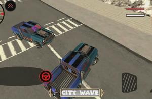 火柴钢铁人3D:强悍皮卡越野车飙车在城市的火柴钢铁人飘了?