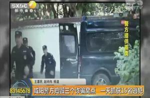 咸阳警方一天抓获30名电信诈骗嫌疑人 15名为外地逃犯
