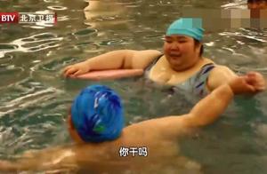 800斤之家8:胖夫妻减肥一周体重不减,来到游泳馆却成运动能手
