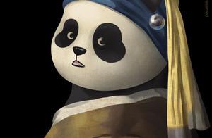 当熊猫滚滚变身中外名画,老夫的少女心炸裂啦!