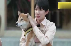王源正在跟狗玩,突然声音响起,王源与狗都吓到了,太逗了!