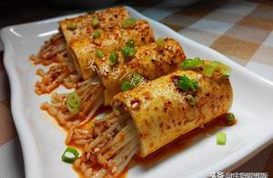 烧烤风味铁板豆皮金针菇,一个平底锅就能搞定,简单营养味道好