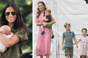 首次同框!凯特王妃的三萌娃和阿奇齐亮相,梅根抱娃姿势略显尴尬