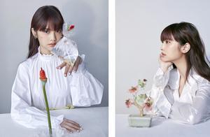 被杨丞琳的少女感惊艳了!35岁剪刘海拍写真,多种风格竟能随便换