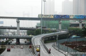 重庆九龙坡区现魔幻交通:四层道路叠一条平行线上