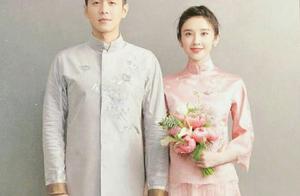 张若昀唐艺昕中西婚纱照甜蜜十足,新娘无名指鸽子蛋抢眼