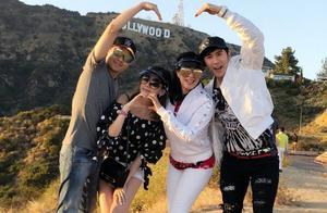 林志颖夫妇携手钟丽缇张伦硕两大家庭同游好莱坞,放暑假其乐融融