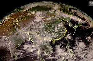 风云卫星高清云图看天气:我国高温与雷雨并存,太平洋台风炸锅