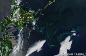 与污染有关系吗?美国卫星连续抓拍:日本北海道附近海水诡异变绿