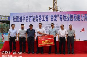 """广西桂建通平台""""贷发""""工资保障农民工收入"""