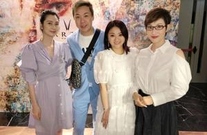 洪欣与好姐妹陈法蓉参加活动,47岁的洪欣状态不敌51岁陈法蓉