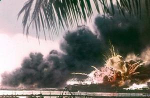 虎虎虎!日本偷袭美国珍珠港彩色老照片流出,惨烈