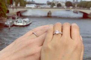 陈法拉与法籍老公Emmanuel(司马诺)晒照官宣结婚喜讯