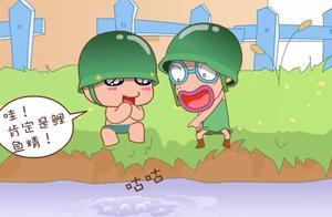 炮炮兵向前冲:以为是鲤鱼精,谁知是排长洗澡,装扮辣眼睛
