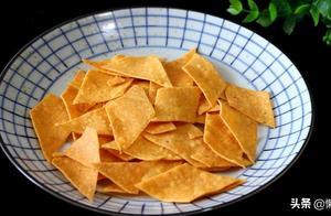 不用油炸,教你玉米片的做法,比薯片还好吃,越吃越香
