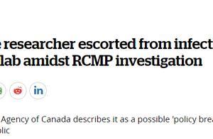 加拿大杰出华裔病毒学家被带走真相曝光!为何只封锁华人研究团队