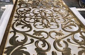 说说不锈钢玄关的形式及设计,古铜色饰品工艺。