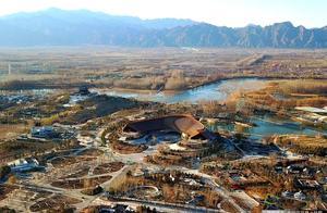从180米高度俯瞰北京世园会场馆
