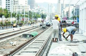 三亚有轨电车示范线项目正加紧施工