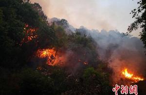 云南大理永平山火遭遇大风导致2号火场形成